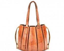 OSTRICH LEATHER BAG #CHESTNUT