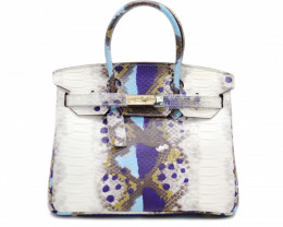COW LEATHER SHOULDER HANDBAG [print]