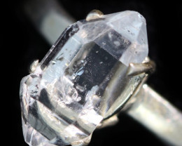 6.5 RING SIZE HERKIMER DIAMOND NATURAL-SILVER [SJ4649]