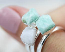 x3 Heart Chakra Rings Size Q - CH71