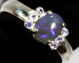 SIZE P.5  SOLID OPAL AND 6 TANZANITES -FACTORY [SJ31 ]