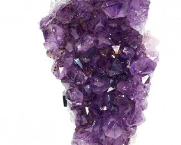 1.5kg Amethyst Cluster With Custom Metal Stand DS207