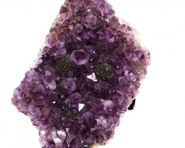 2.36kg Amethyst Cluster With Custom Metal Stand DS213