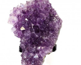 1.68kg Amethyst Cluster With Custom Metal Stand DS214