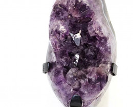 1.92kg Amethyst Cluster With Custom Metal Stand DS217