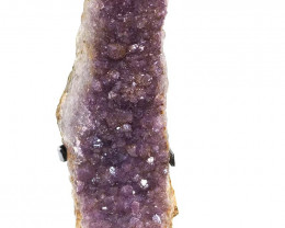 1.58kg Amethyst Cluster With Custom Metal Stand DS220