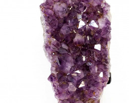 2.24kg Amethyst Cluster With Custom Metal Stand DS221