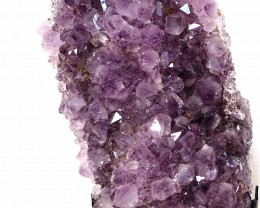 4.22kg Amethyst Cluster With Custom Metal Stand DS230