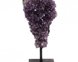2.3kg Amethyst Cluster With Custom Metal Stand DS233
