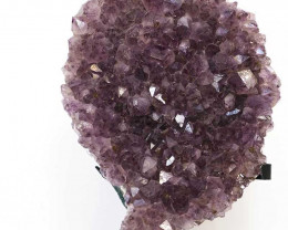 3.2kg Amethyst Cluster With Custom Metal Stand DS234