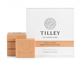 Tilley Gift Soap Set Vanilla Bean 4x 50g