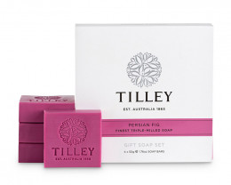 Tilley Gift Soap Set Persian Fig 4x 50g