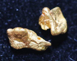 2pieces NUGGET  to 0.52 Grams Australian Kalgoorlie Gold Nugget CH186