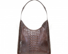 CROCODILE LEATHER BAG #CHOCO