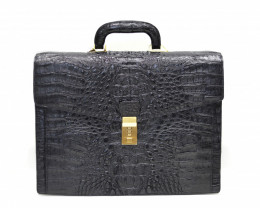 HORNBACK CROCODILE LEATHER BRIEFCASE #black