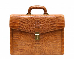 HORNBACK CROCODILE LEATHER BRIEFCASE #chest