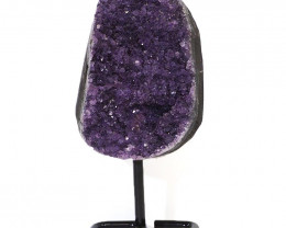 0.963kg Amethyst Cluster With Custom Metal Stand DJ587