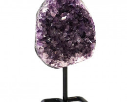 1.408kg Amethyst Cluster With Custom Metal Stand DJ598