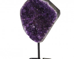 1.452kg Amethyst Cluster With Custom Metal Stand DJ603