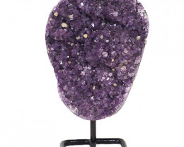 2kg Amethyst Cluster With Custom Metal Stand DJ604
