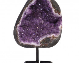 2.4kg Amethyst Cluster With Custom Metal Stand DJ608