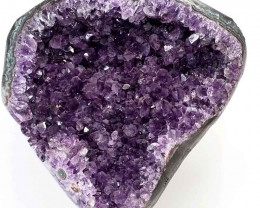 2.64kg Amethyst Geode With Custom Metal Stand DS245