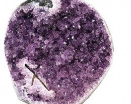 4.28kg Amethyst Geode With Custom Metal Stand DS248