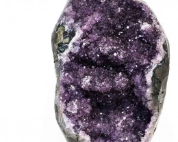 4.74kg Amethyst Geode With Custom Metal Stand DS249