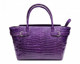 CROCODILE LEATHER BAG #purple