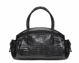 CROCODILE LEATHER BAG #BLACK