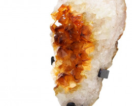 0.94kg Citrine Cluster With Custom Metal Stand DS261