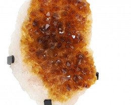 1.56kg Citrine Cluster With Custom Metal Stand DS262