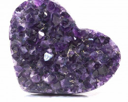 0.572kg Natural Amethyst Druze Heart DS264