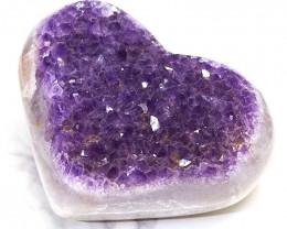 0.40kg Natural Amethyst Druze Heart DS266