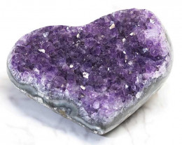 0.310kg Natural Amethyst Druze Heart DS268