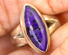 39.35CTS  - SUGILITE 925 STERLING SILVER RING  RJA-638