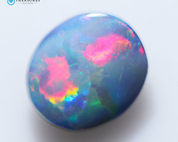 1.05Cts Coober Pedy Cabochon Skin Shell Opal doublet   CH240