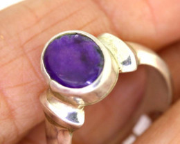 37.15CTS  - SUGILITE 925 STERLING SILVER RING  RJA-637