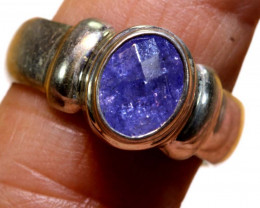 42.75 CTS- TANZANITE 925 STERING SILVER RING RJA -653