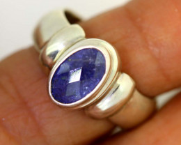 41.85-CTS-  TANZANITE 925 STERING SILVER RING RJA-658