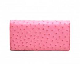 OSTRICH SHORT WALLET #Pink