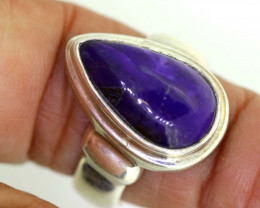 51.90CTS  - SUGILITE 925 STERLING SILVER RING  RJA-665