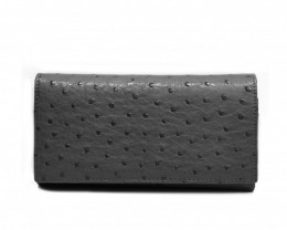 OSTRICH SHORT WALLET #black