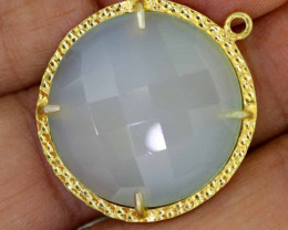 24CTS - FACETED CHALCEDONY PENDANT  RJA -667