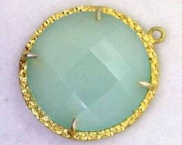 25CTS - FACETED CHALCEDONY PENDANT  RJA -668