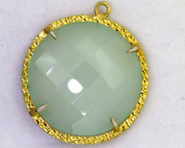 24.55CTS - FACETED CHALCEDONY PENDANT  RJA -669
