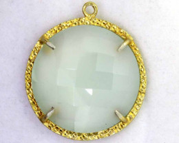 20.95CTS - FACETED CHALCEDONY PENDANT  RJA -670