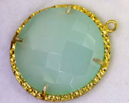 24.65CTS - FACETED CHALCEDONY PENDANT  RJA -672