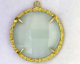 19.85CTS - FACETED CHALCEDONY PENDANT  RJA -674