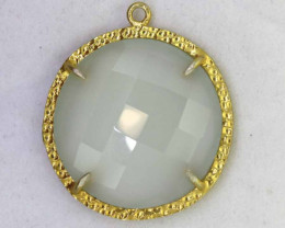 23.40CTS - FACETED CHALCEDONY PENDANT  RJA -675